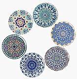 BOHORIA Premium Design Untersetzer 6er Set Dekorative Untersetzer fur Glas, Tassen, Vasen, Kerzen auf ihrem Holz-, Glas- oder Stein- Esstisch Boho Edition,Boho