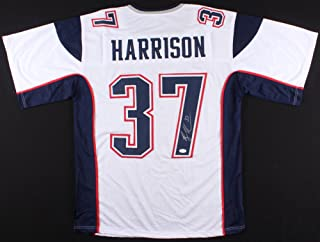 Rodney Harrison New England Patriots Signed Autographed White Away Jersey JSA