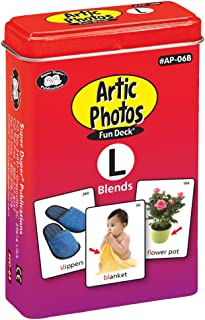 Super Duper Publications Articulation Photos L Blends Fun Deck Flash Cards - Revised Photos Educational Learning Resource for Children