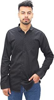 Matelco Men's Regular Fit Cotton Collar Half Sleeve T-Shirt (A-14-Ad07Le814Bk_Black)
