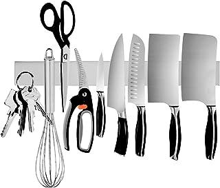 Ouddy Magnetic Knife Holder, 16 Inch Stainless Steel Magnetic Knife Strip, Magnetic Knife Bar Rack Block for Kitchen Utensil Holder, Art Supply Organizer & Tool Holder