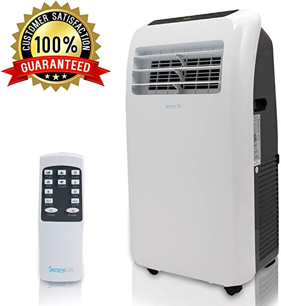 SereneLife 10 000 BTU Portable Air Conditioner 3 In 1 Floor AC Unit With Built In Dehumidifier Fan Modes Remote Control Complete Window Mount Exhaust Kit For Rooms Up To 450 Sq Ft