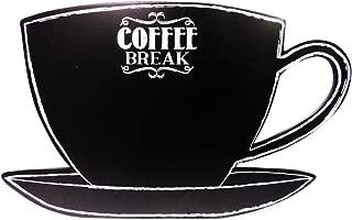 Coffee Break Cup/Saucer Chalkboard Message Board