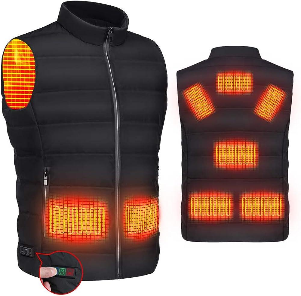 RYNX Heated Vest for Women Men,USB Charging Warming Lightweight Heated Jacket for Outdoor Activities(Not include powerbank)