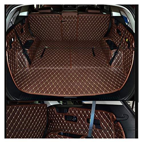 LUCHAO Alfombrillas de troncal de Coche Personalizadas para Kia Sorento 7Ests - Carpetas de entrador de línea de Carga duraderas (Color : Coffee)