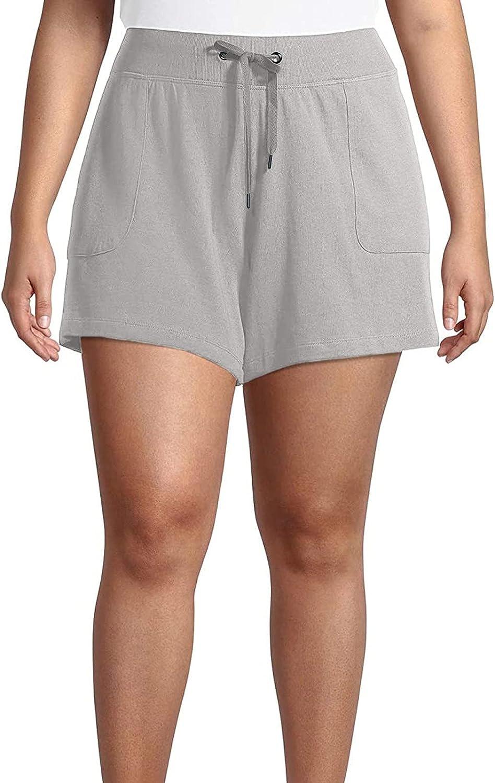 Futurelove Women Plus Size Pocket Bandage Solid Shorts Running Sports Quick-Dry Breathable Slim-Fit Sport Yoga Wide Leg Pants