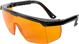 Professional UV Light Safety Glasses - One Size Fits All Polycarbonate Shatterproof UVC Protection Goggles for Blocking up...