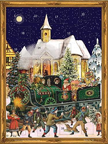 """Richard Sellmer Verlag Calendrier de l'avent nostalgique """"Train de Noël"""" pour adultes et enfants avec mica"""