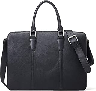 Ancicraft Leather Briefcase for Men Business Travel Messenger Bag 14 Inch Laptop Crossbody Shoulder Bags Vintage Classic For Him