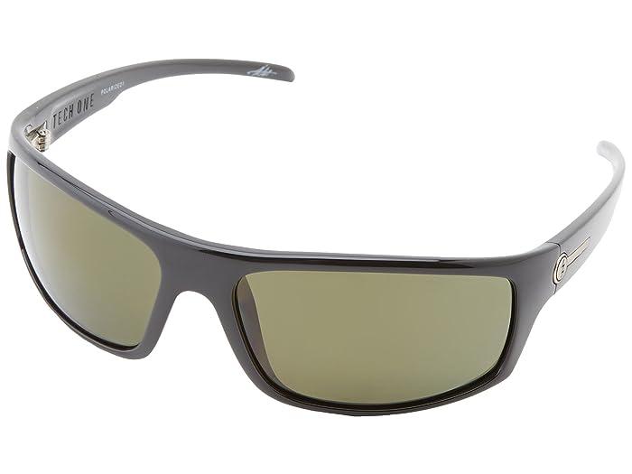 Electric Eyewear Tech One Polarized (Gloss Black/M1 Grey Polar) Plastic Frame Sport Sunglasses