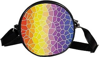 Coosun Umhängetasche mit Mosaik-Hintergrund-Textur, rund, Umhängetasche, Handtasche, Handtasche, Umhängetasche, Schulterta...
