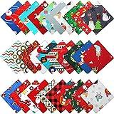 30 Stücke 10 x 10 Zoll Weihnacht Baumwoll Stoff Bündel
