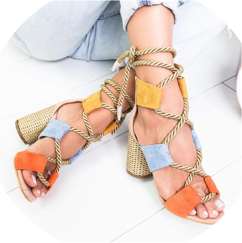 Zombie Jessica Summer Wedge Espadrilles Women Sandals Heel Pointed Fish Mouth Gladiator Sandals Hemp Rope Lace Up Platform Sandal
