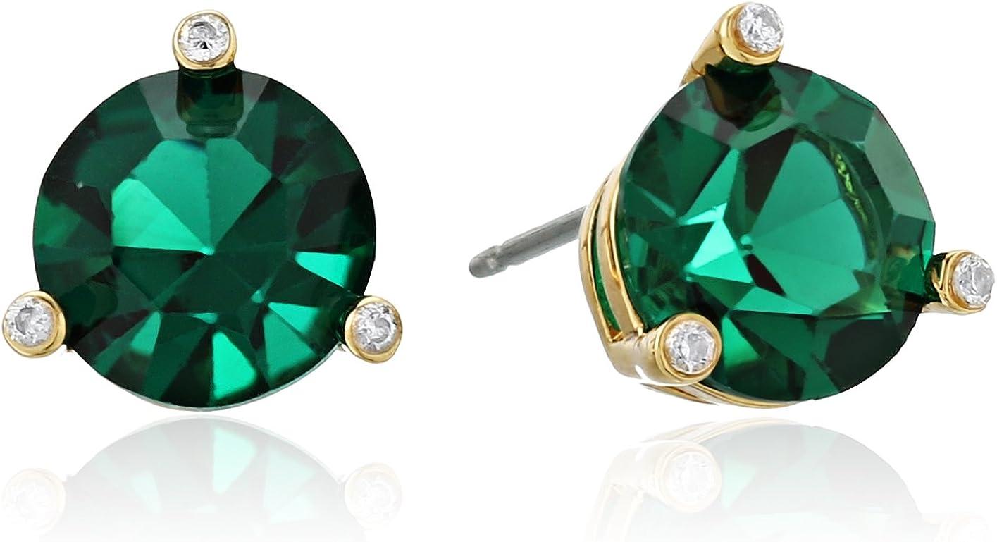 kate spade new york Small Studs Emerald Stud Earrings