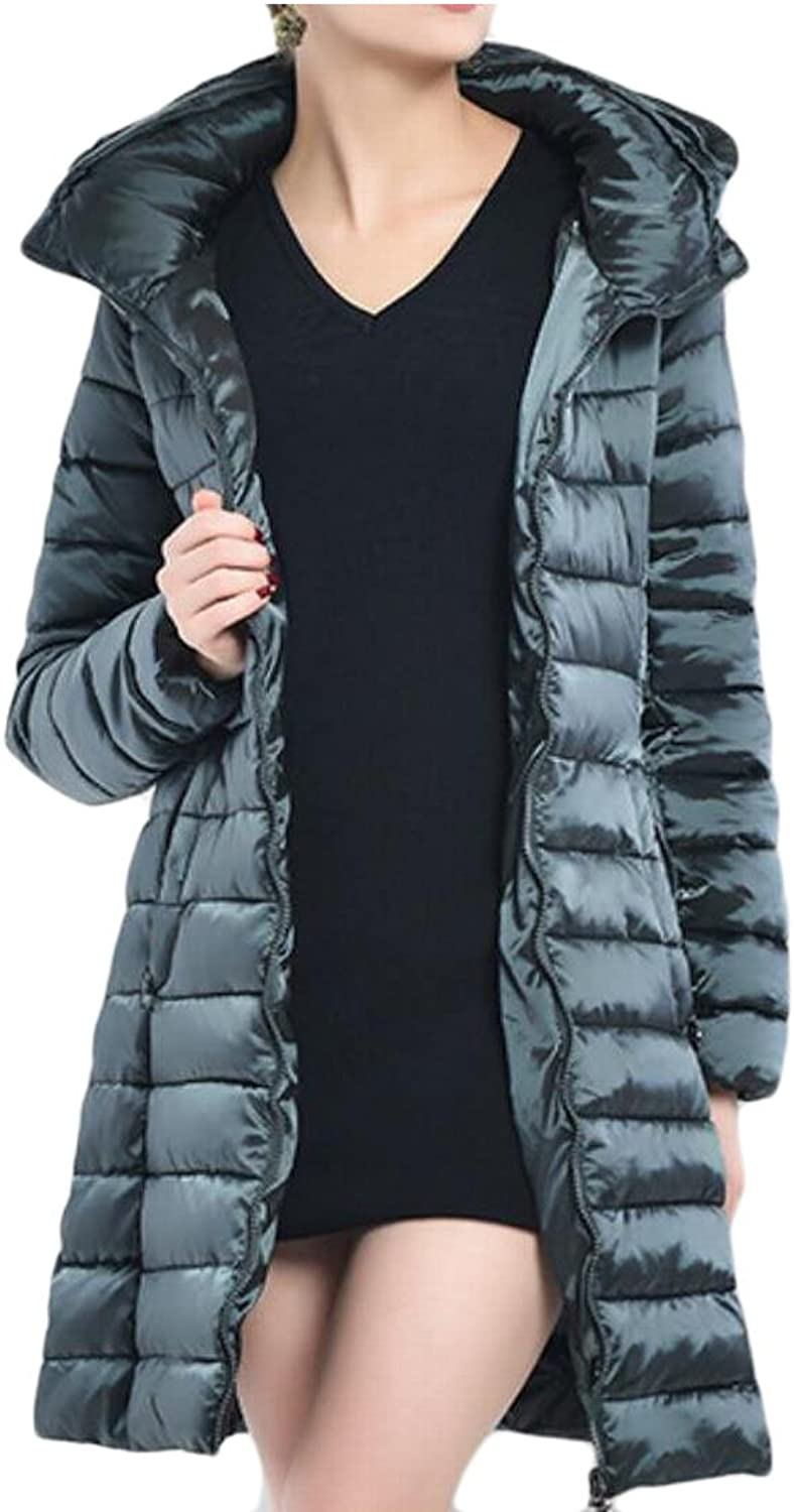 Qiangjinjiu Women's Fashion Packable Hooded Lightweight Down Jackets Puffer Coats
