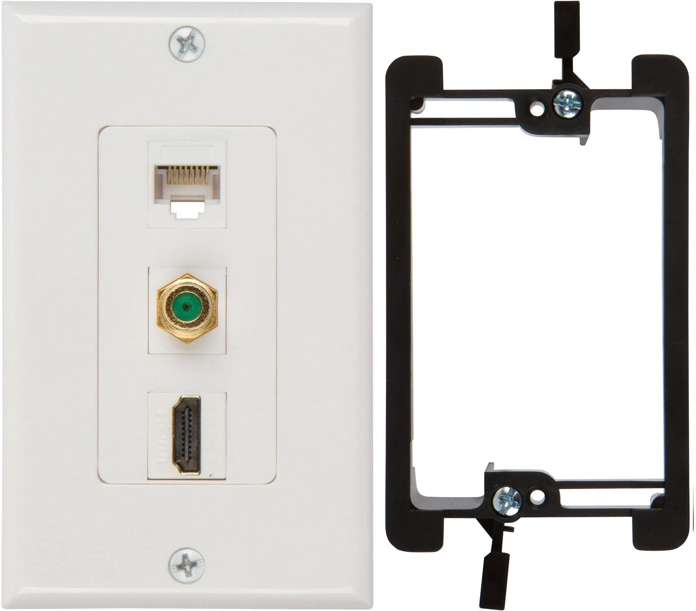 Buyer's Point HDMI 3GHz Cheap mail order shopping Coax Ethernet Listed Max 72% OFF UL wit Wall Plate