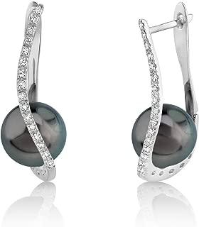 Best diamond and black pearl earrings Reviews