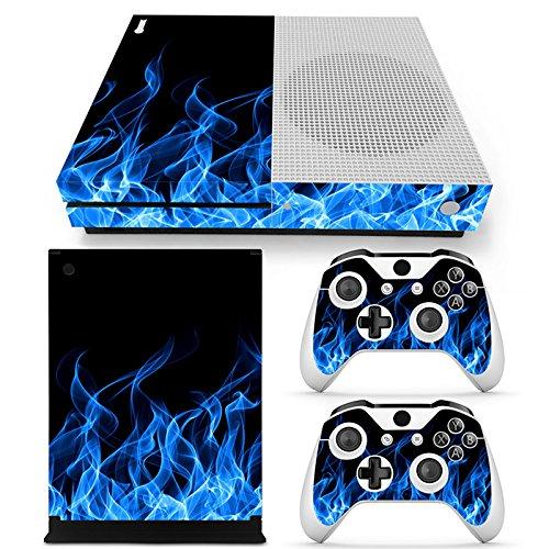 Gam3Gear - Vinilo Adhesivo para Consola Xbox One S y Controlador (no Xbox One Elite/Xbox One/Xbox One X) Blue Flame