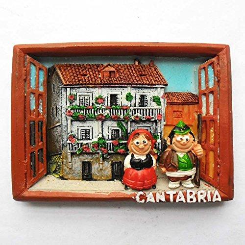 España Relieve Cantabria, imán de Nevera de Resina 3D Hecho a Mano, Recuerdos turísticos, útiles de Cocina para el hogar, decoración Artesanal.