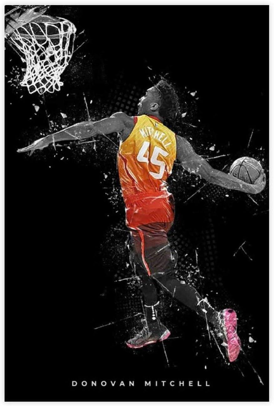 Donovan Poster Utah Jazz Super beauty product restock quality top! Basketball Print Free Shipping New Decor Wall Canvas Art