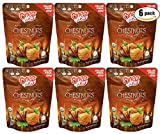 Chestnuts Organic Whole Roasted Peeled Chestnuts (Chestnuts 5.3oz, 6-Pack)