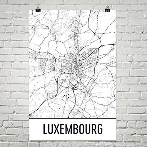 Moderne kaart Kunst Luxemburg Kaart, Luxemburg Kunst, Luxemburg Print, Luxemburg Poster, Luxemburg Muur Art, Luxemburg Geschenken Poster