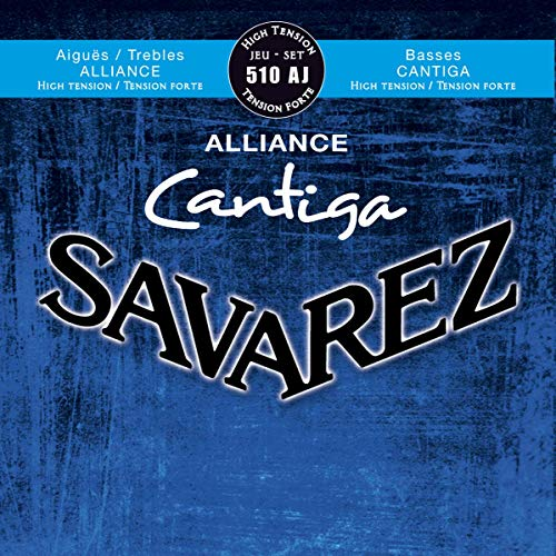 Savarez 510 AJ Saiten für Klassikgitarre Alliance Cantiga Satz 510AJ High Tension blau