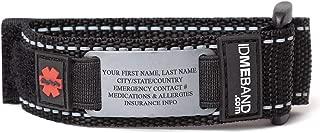 Gone For a Run Personalized Tech Nylon IDmeBAND | Single Sided Safety Identification Bracelet
