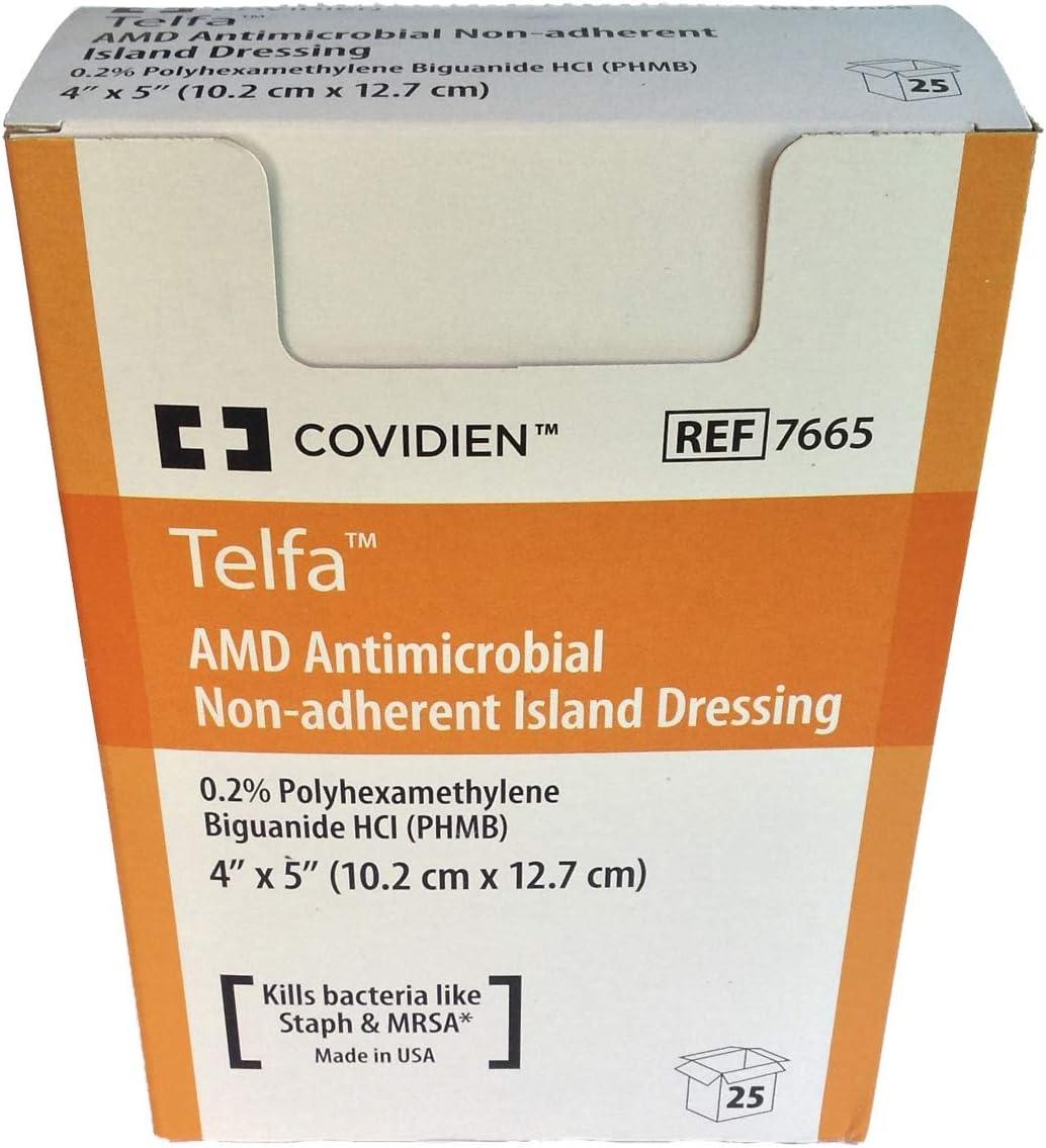 Telfa 7665 AMD Antimicrobial Atlanta Mall Non-Adherent Dressing Box o Oklahoma City Mall Island