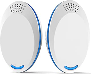 DELFINO Ultrasonic Pest Repeller Plug-in - Electronic Insect Control Defender 2Pack - Roach Bed Bug Mouse Rodent Mosquito ...