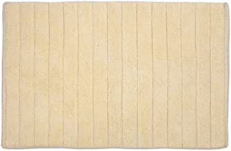DII Oceanique Machine Washable 100% Cotton Ribbed Woven Luxury Spa Bath Rug, 17 x 24, Cream