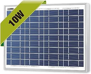 Newpowa 10 Watts 12 Volts Polycrystalline Solar Panel 10W 12V High Efficiency Module RV Marine Boat Off Grid