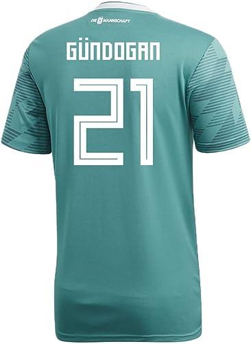 Adidas Gundogan   21Allemagne Away Soccer Stadium pour Homme S S Maillot Coupe du Monde de Football Russie 2018