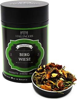 Hallingers Loser Kräuter-Tee mit Hagebutte, Zitrone & Ringelblume 110g - Bergwiese Premiumdose - zu Bayern & Volksfeste ideal als Geschenk
