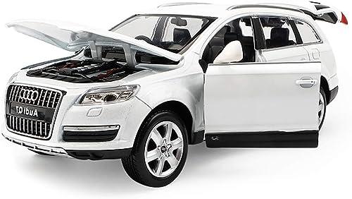 Tu satisfacción es nuestro objetivo Hyzb Coche Modelo 1 24 Audi Q7SUV Todoterreno Todoterreno Todoterreno simulación de aleación de fundición de Juguetes Adornos Juguetes Deportivos colección de Joyas 20x7.5x7CM (Color   blanco)  promocionales de incentivo