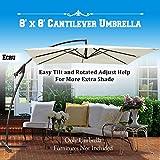 BenefitUSA U007-250X-ECR Patio-Umbrella, Outdoor, Garden,Cantilever, Ecru