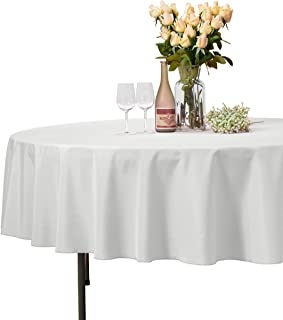 90 inch round tablecloth ivory