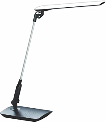 PureOptics LED VLED1507 Adjustable Dimmer LED Desk Lamp, Black