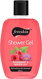 Freeskin Raspberry & Water Lily Body Wash Shower Gel 400ml, it Soothes Skin Rashes and Irritations, Suitable for All Skin ...
