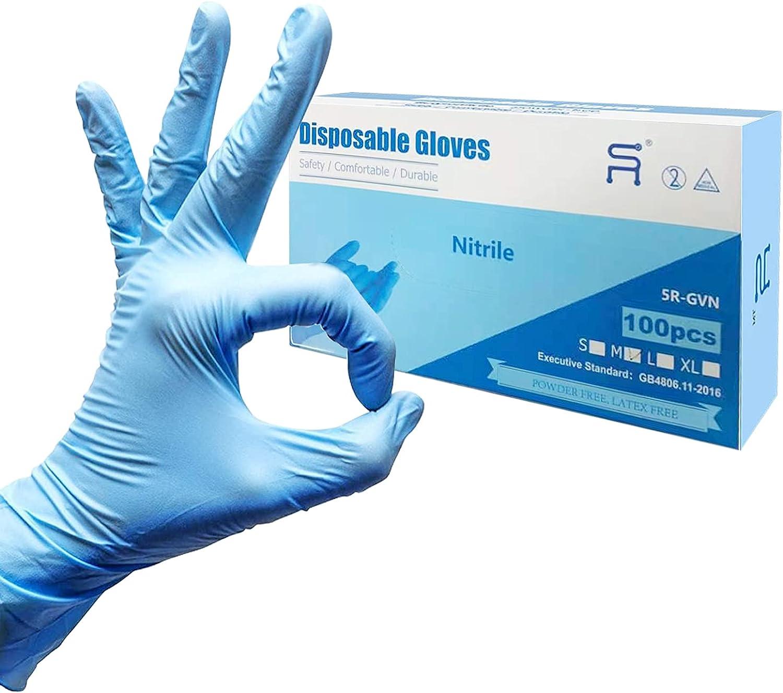 Nitrile Gloves,Disposable Gloves,No Latex,No Powder,Texture,Safe Working Gloves