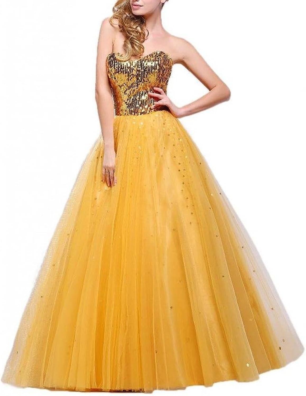 Dearta Women's ALine Sweetheart Sleeveless FloorLength Quinceanera Dresses