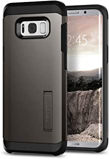 Spigen Tough Armor Galaxy S8 Case with Reinforced Kickstand and Heavy Duty Protection and Air Cushion Technology for Samsung Galaxy S8 (2017) - Gunmetal (Renewed)