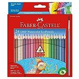 Faber-Castell - GRIP Watercolor EcoPencils - Premium Art Supplies For Kids (24 Count)