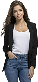 JHVYF Womens Casual Basic Work Office Cardigan Tuxedo Summer Blazer Open Front Boyfriend Jacket