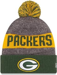 New Era Green Bay Packers 2016 NFL Sideline On Field Sport Knit Hat - Green Cuff