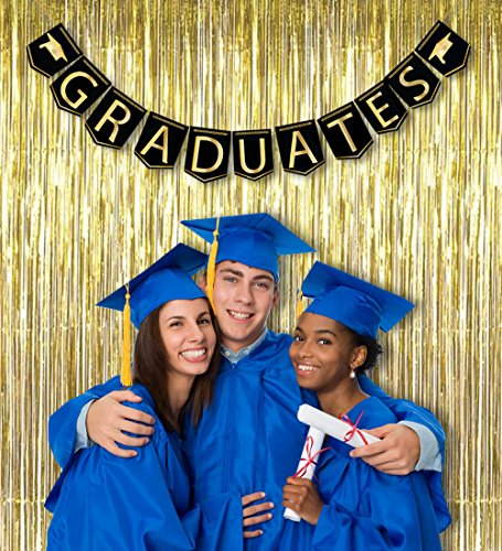 2020 Graduation Party Supplies Decorations Set - Congrats Grad Banner and 2 Star Strings