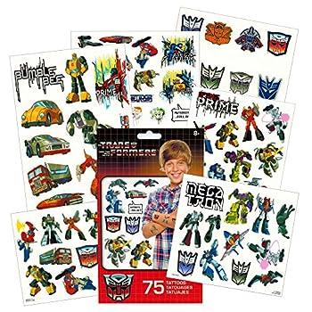 Transformers Temporary Tattoos Party Favor Set  75 Temporary Tattoos