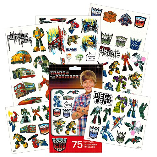 Transformers Temporary Tattoos Party Favor Set (75 Temporary Tattoos)