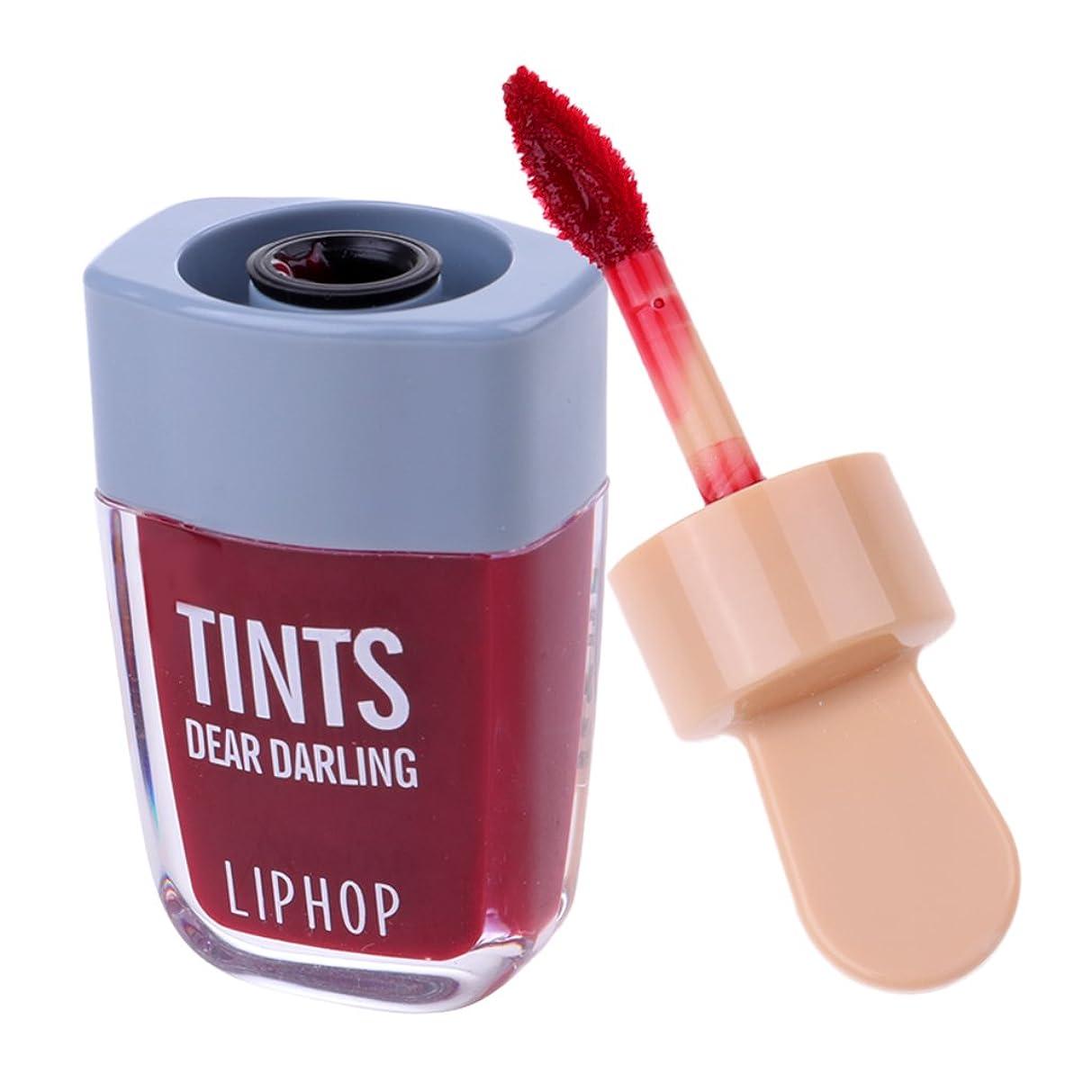 艶コンソール元気Baosity リップグロス リップライナー 口紅 長持ち 防水 魅力的 カラーメイク 6色選べる - ワインレッド