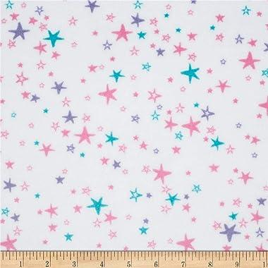 Shannon Fabrics Shannon Minky Cuddle Starbright Fabric, Hot Pink/Iris, Fabric By The Yard